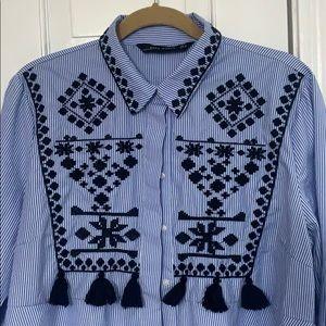 Embroidered tunic Zara size XL